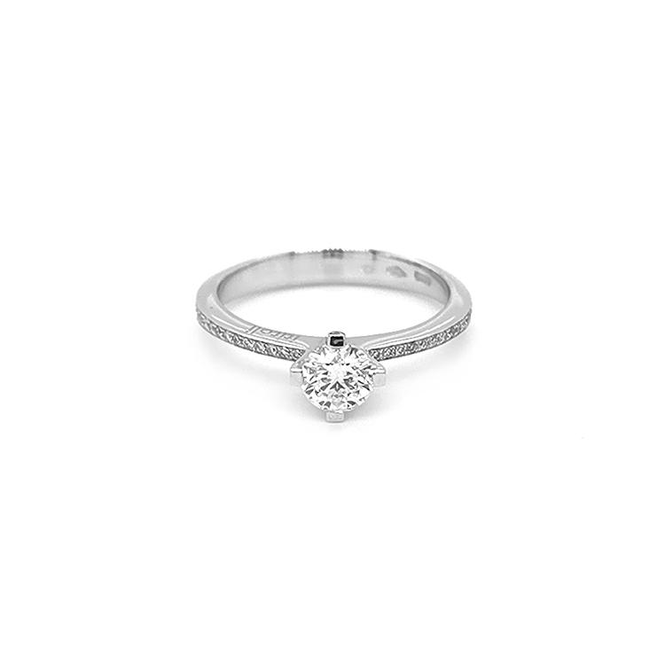Zlatý Zásnubní Prtsen s Diamantem