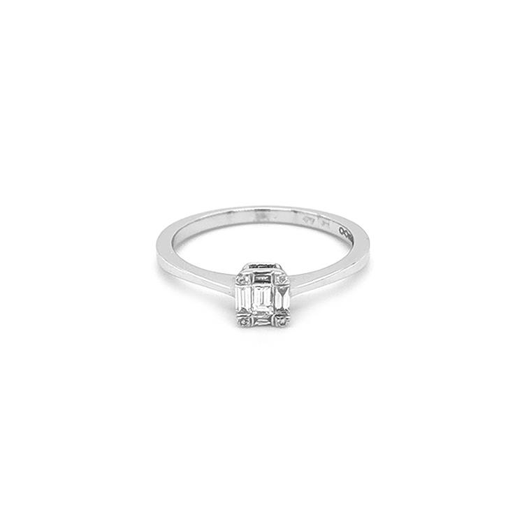 Zlatý Zádnubní Prsten s Diamanty