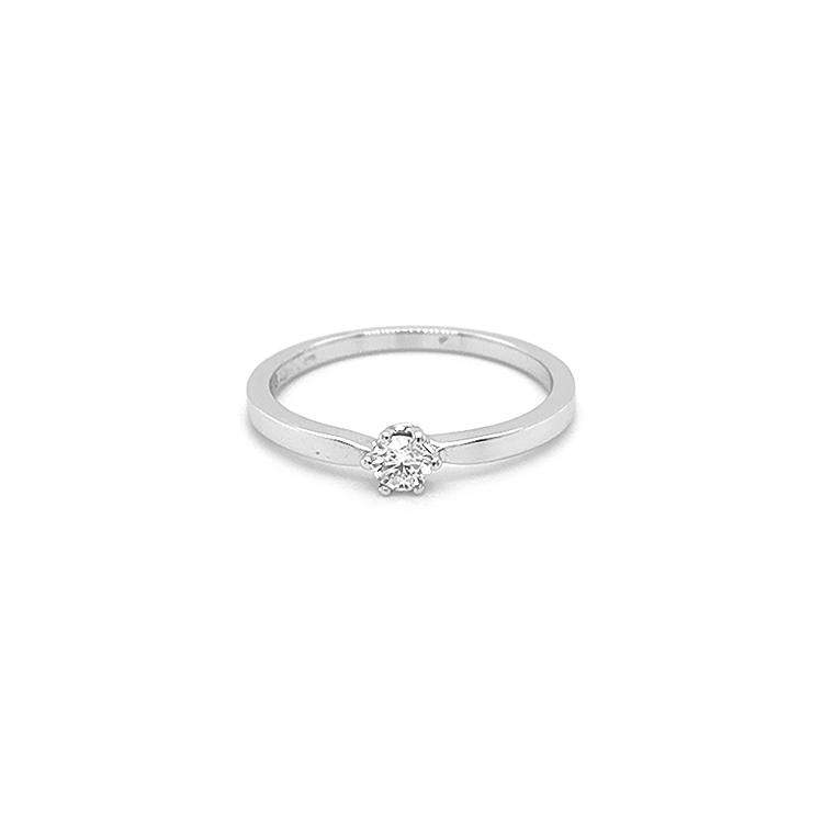 Zlatý Zásnubní Prsten s Diamatnem