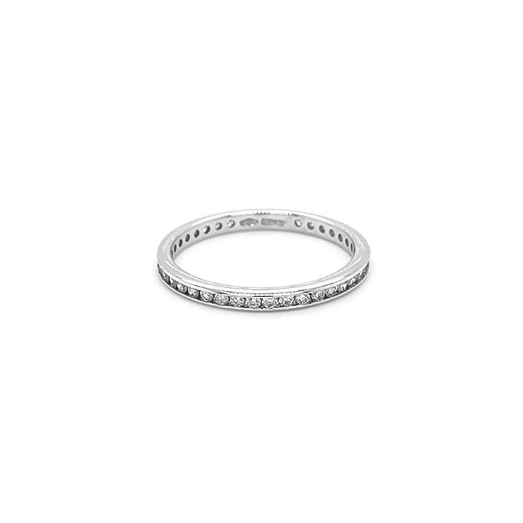 Zlatý Eternity Prsten s Diamanty