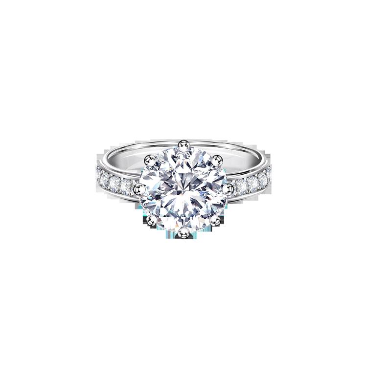 Zlatý Zásnubní Prsten s Diamanty